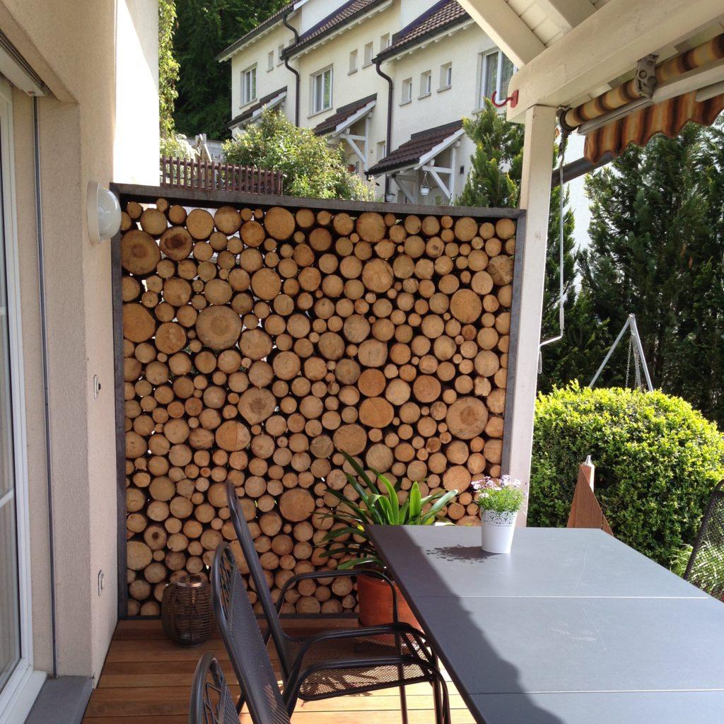 Sichtschutz Holzwand bei EFH Bischofszell Thurgau