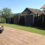 Holzboden bei Gartenanlage Buhwil, Thurgau