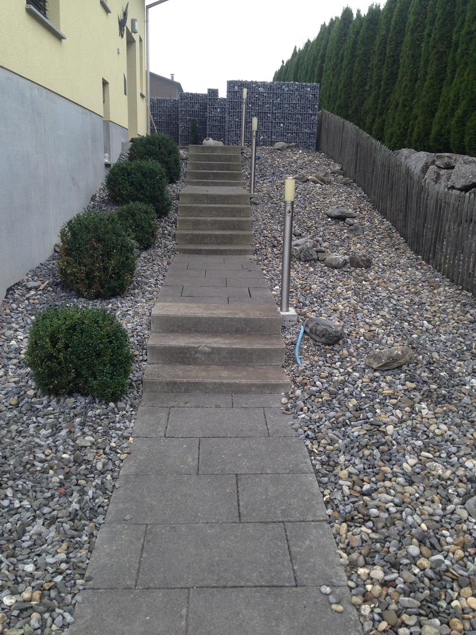 EFH Amlikon-Bissegg mit Gartenparadies - Gartenidylle mit Naturstein Treppen