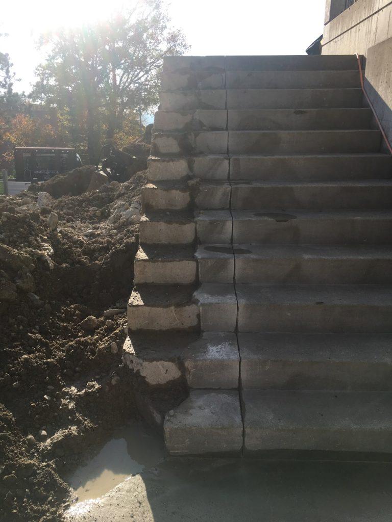 EFH- Wil, Treppe zu schneiden