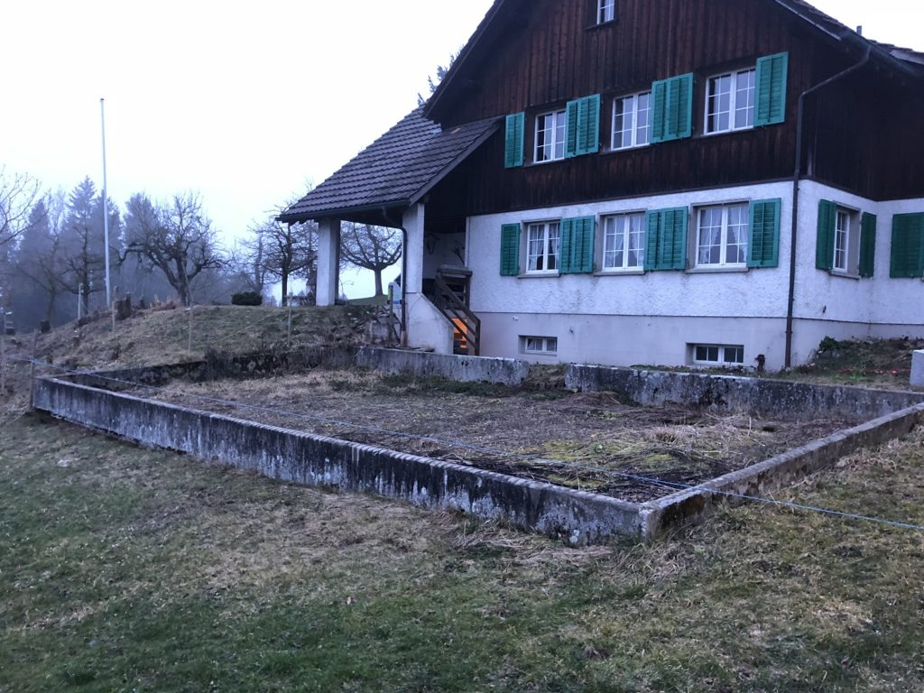 EFH Hosenruck Gartenumgestaltung vorher