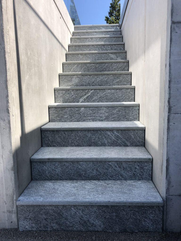 Gartenumänderung Treppe